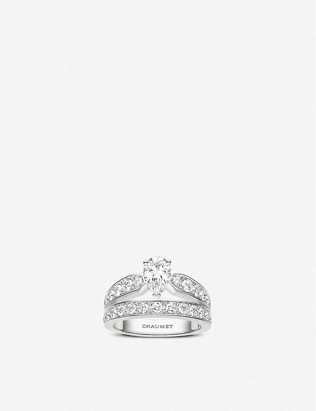 CHAUMET: Joséphine Aube Printanière 18ct white-gold and diamond ring