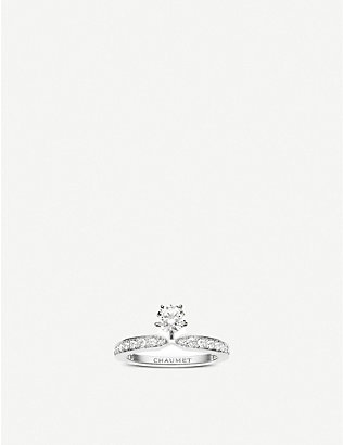 CHAUMET: Joséphine Éclat d'Éternité solitaire platinum and diamond ring