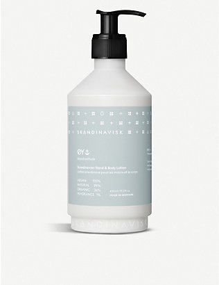SKANDINAVISK: ØY scented hand and body lotion 450ml