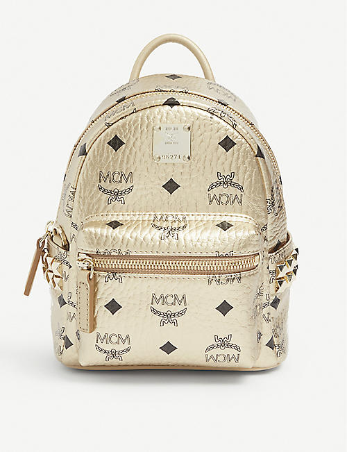 MCM: Stark leather mini backpack