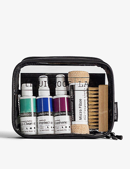 LIQUIPROOF: Footwear & Fashion complete care travel kit