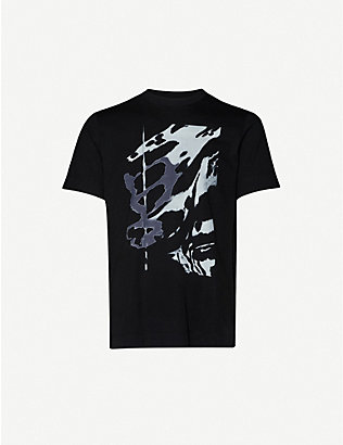 1017 ALYX 9SM: Serigraphic Wing abstract-print cotton-jersey T-shirt