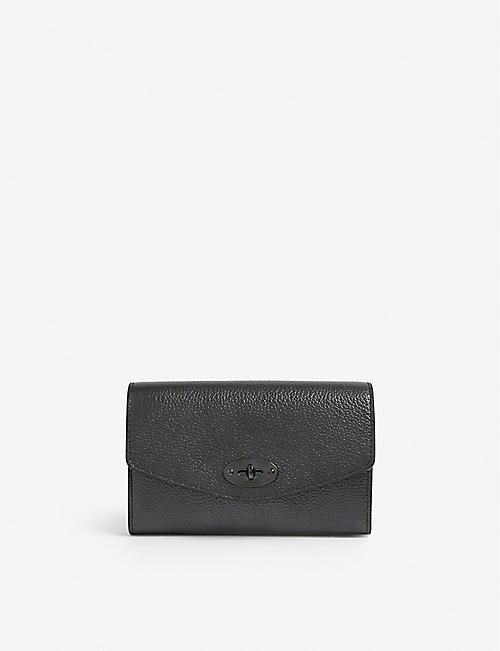 MULBERRY: Darley small grained-leather wallet-on-chain