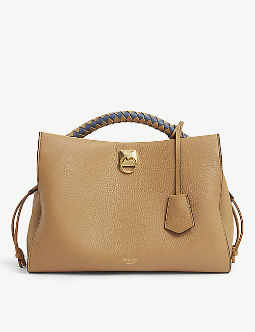 MULBERRY: Iris leather top-handle bag