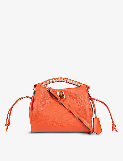 MULBERRY: Iris leather top handle bag