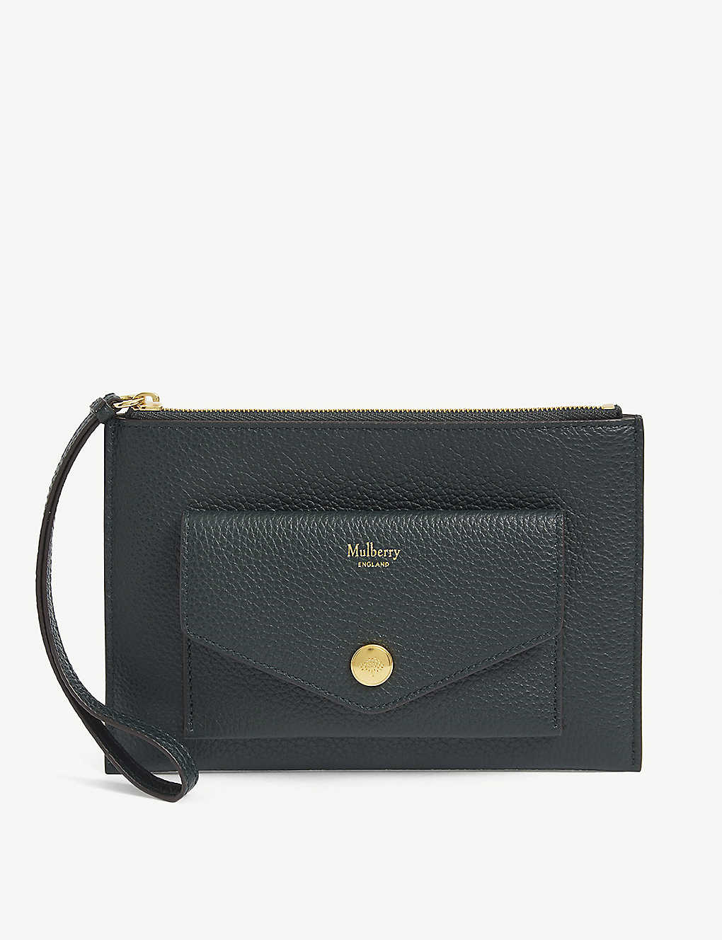 MULBERRY: Grained leather pocket wristlet