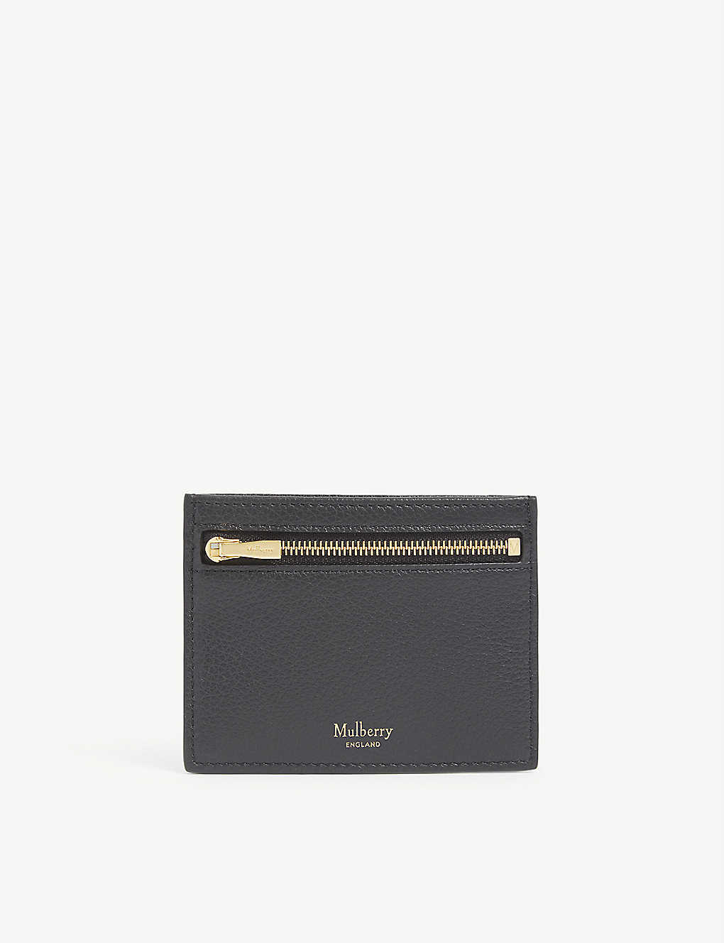 MULBERRY: Grained leather zipped card holder