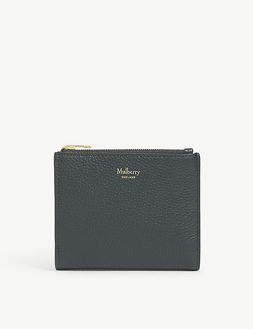 MULBERRY: Zipped grain leather wallet