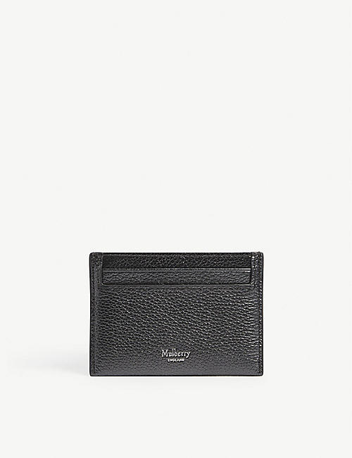 MULBERRY: Pebbled-leather card holder