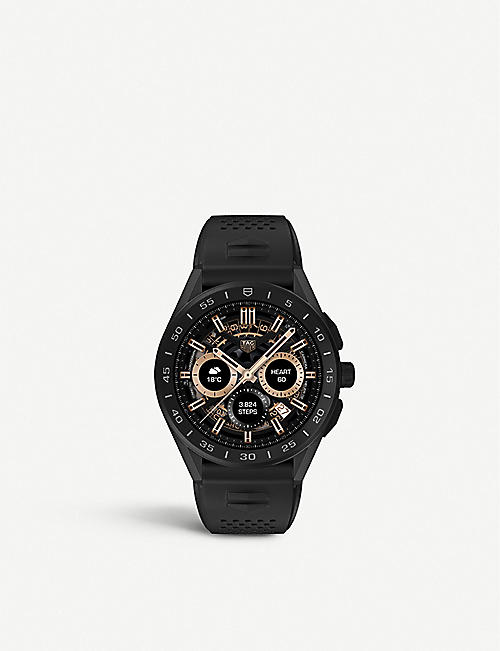 TAG HEUER: Connected titanium and rubber watch