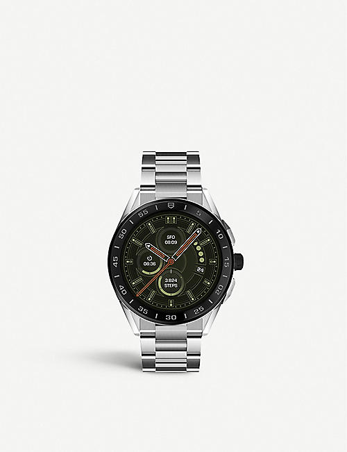 TAG HEUER: Connected steel watch