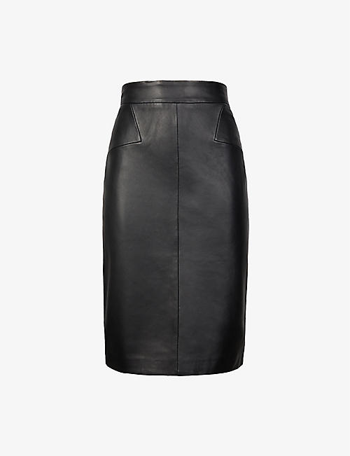 REISS: Reagan leather pencil skirt