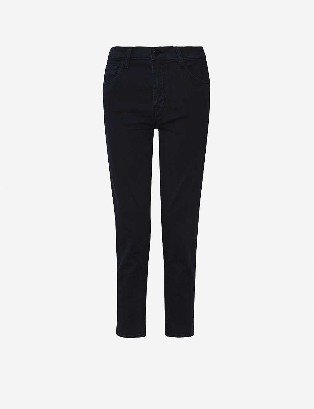 J BRAND: Ruby cropped high-rise slim-fit cigarette jeans