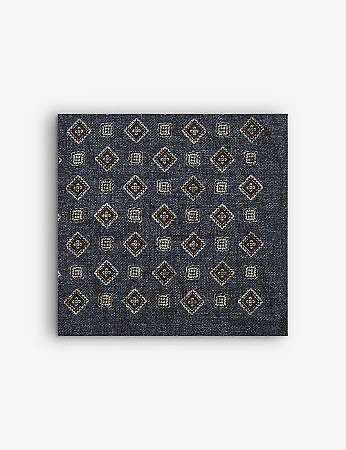 REISS: Sicily wool pocket square 32cm x 32cm