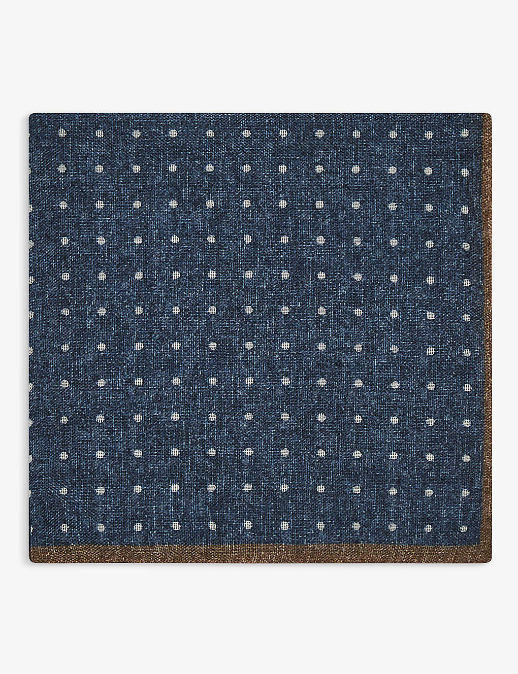 REISS: Naples wool pocket square 32cm x 32cm