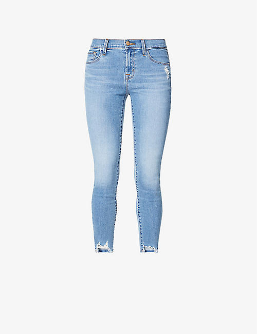 J BRAND: 835 cropped skinny mid-rise jeans