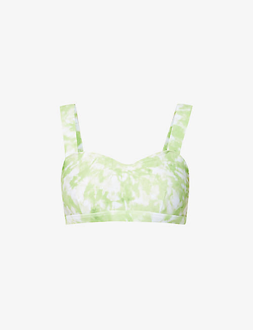 FAITHFULL THE BRAND: Roos Provence tie-dye bikini top