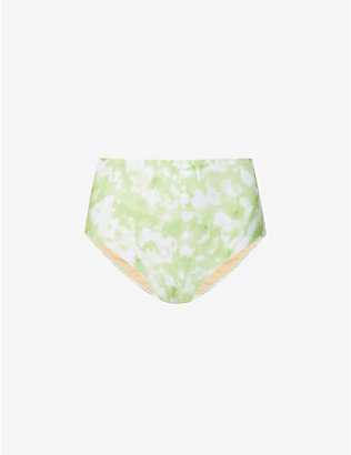 FAITHFULL THE BRAND: Roos Chaumont tie-dye high-rise bikini bottoms