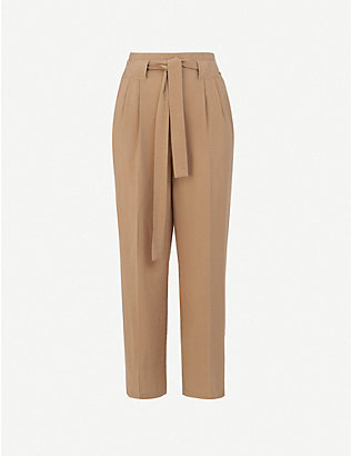 WHISTLES: Cropped straight high-rise woven trousers