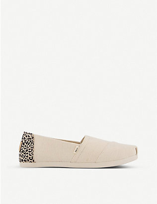 TOMS: Seasonal Classic leopard-print canvas shoes