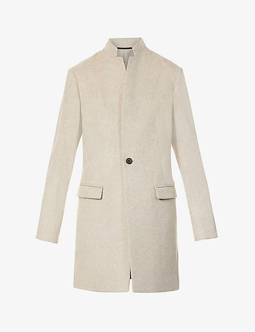 ALLSAINTS: Manor notch-lapel wool coat