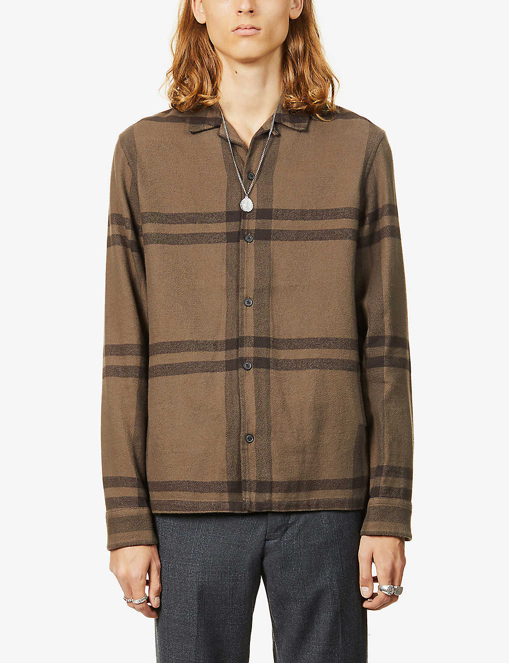 ALLSAINTS: Anchorage checked cotton shirt