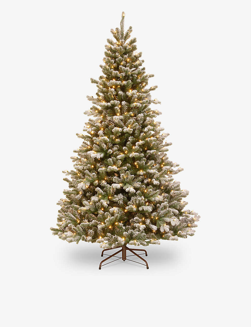 CHRISTMAS: Snowy Sheffield pre-lit Christmas tree decoration 7.5ft
