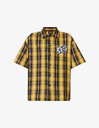 JUST DON: Dealers plaid cotton shirt