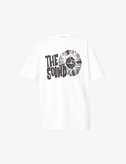 JUST DON: The Sound graphic-print cotton-jersey T-shirt