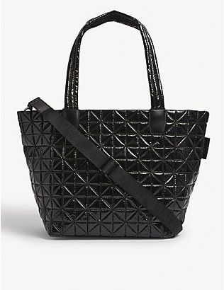 VEE COLLECTIVE: Vee medium vinyl-coated recycled-nylon tote bag