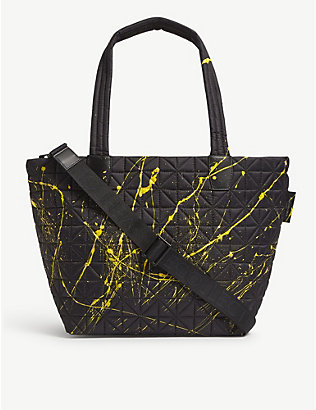 VEE COLLECTIVE: Vee medium paint splatter recycled-nylon tote bag