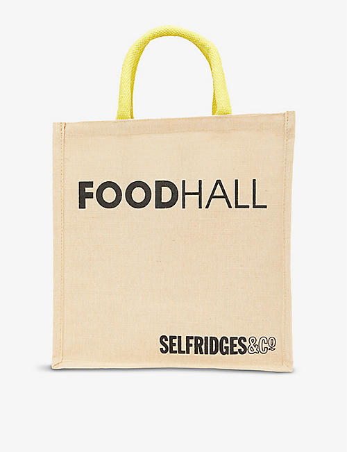 SELFRIDGES SELECTION: Canvas wine carrier bag