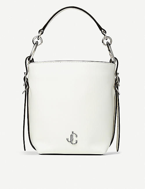 JIMMY CHOO: Varenne leather bucket handbag