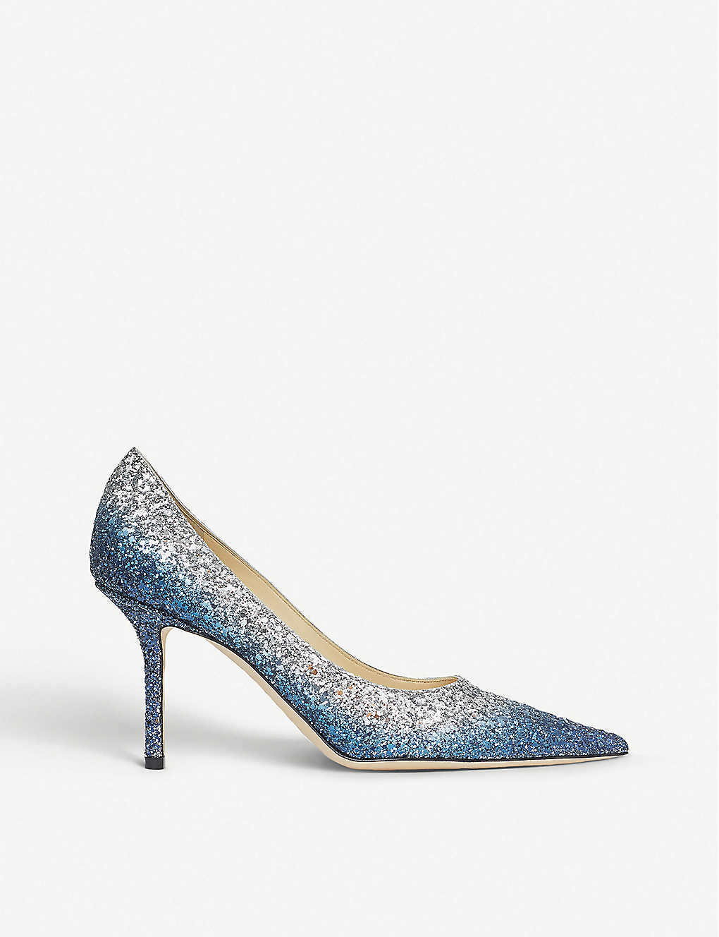 JIMMY CHOO: Love 85 glitter dégradé courts