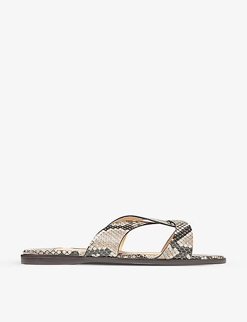 JIMMY CHOO: Atia twisted-strap leather sandals
