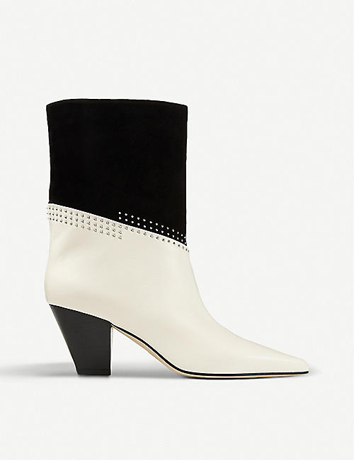 JIMMY CHOO: Bear 65 studded leather ankle boots