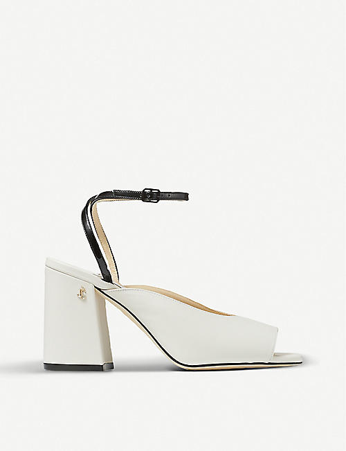 JIMMY CHOO: Jassidy 85 square-toe leather sandals