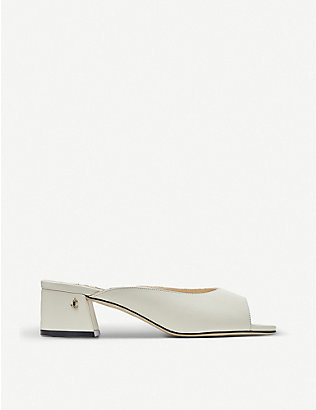 JIMMY CHOO: Jynx 45 block-heel leather mules