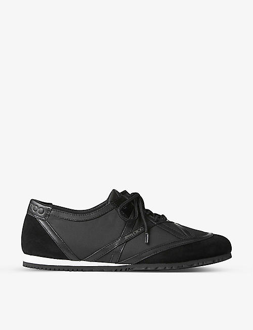 JIMMY CHOO: KATO branded leather trainers