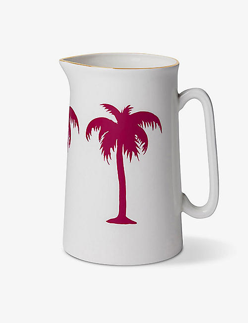 ALICE PETO: Palm Tree fine bone china jug 1l
