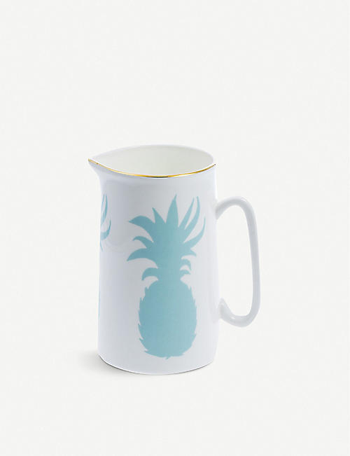 ALICE PETO: Pineapple fine bone china jug 1l