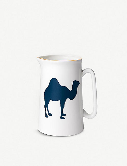 ALICE PETO: Camel-print fine bone china jug 560ml