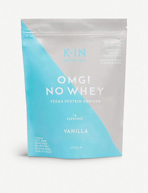 KIN NUTRITION: Omg No Whey vegan vanilla protein powder 500g
