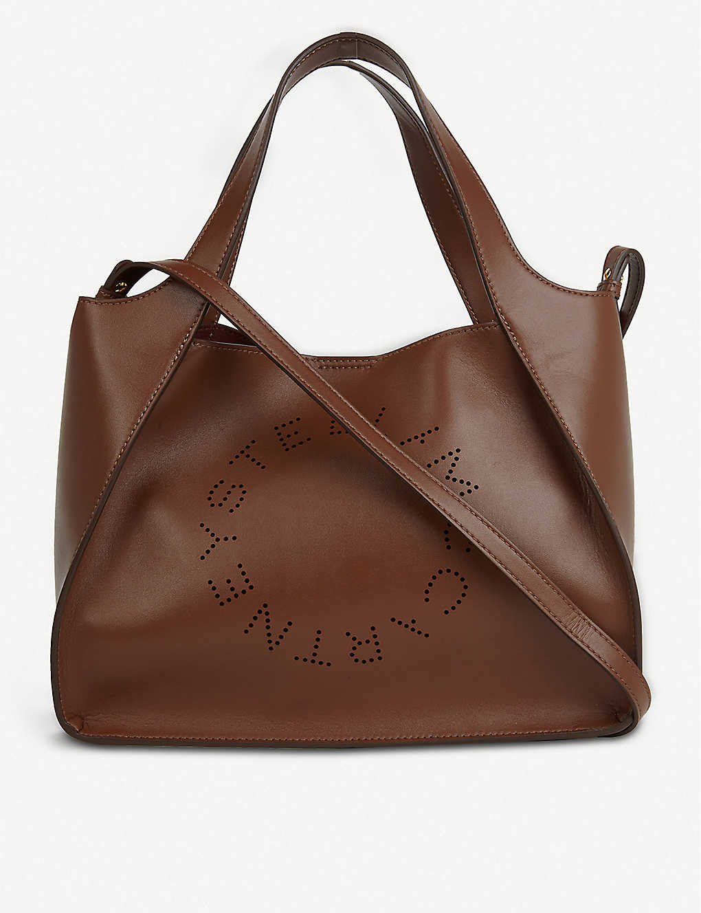 STELLA MCCARTNEY: Perforated vegan-leather tote bag