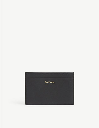 PAUL SMITH ACCESSORIES: Graphic-print leather credit card holder