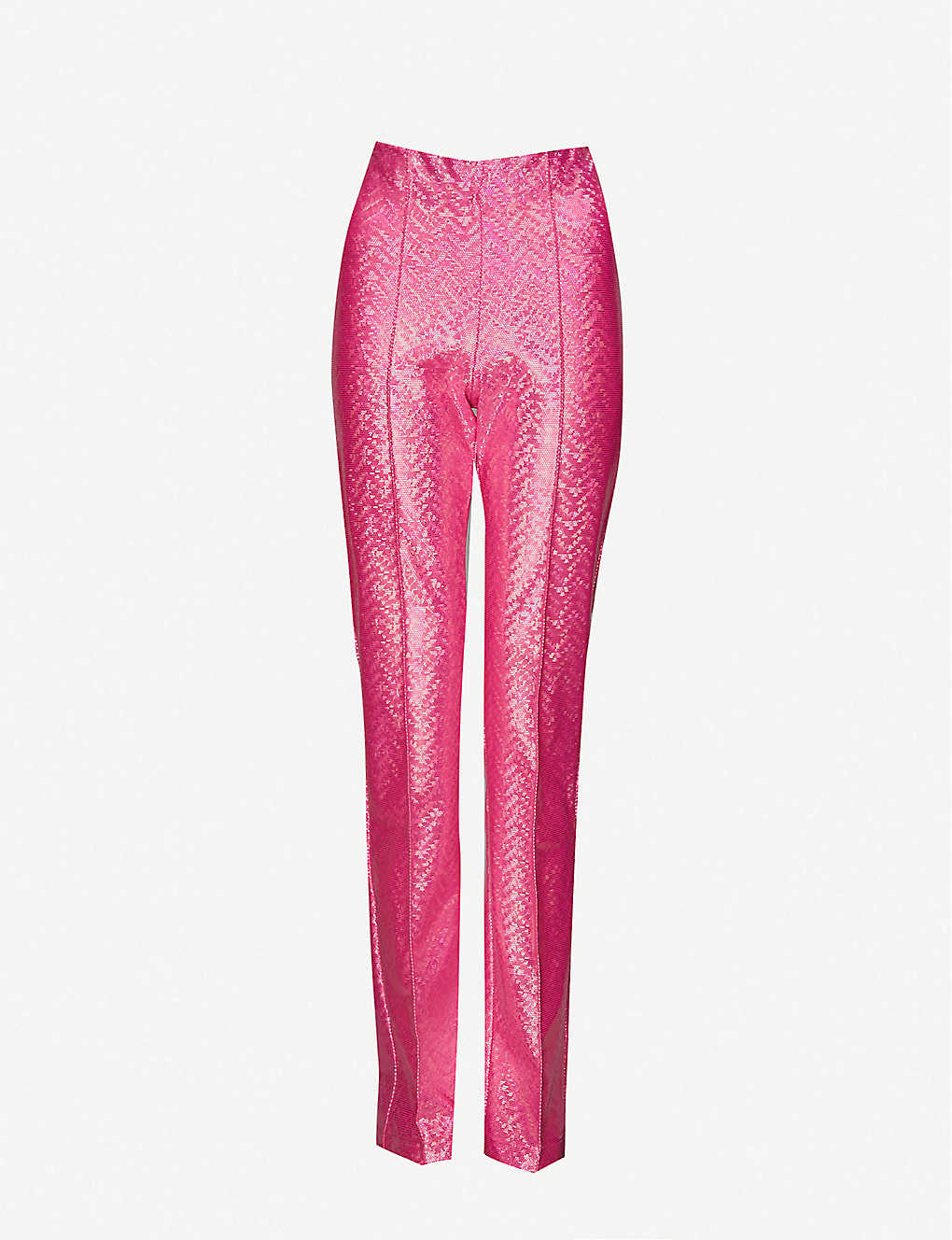 SAKS POTTS: Lissi shimmer high-rise stretch-jersey trousers