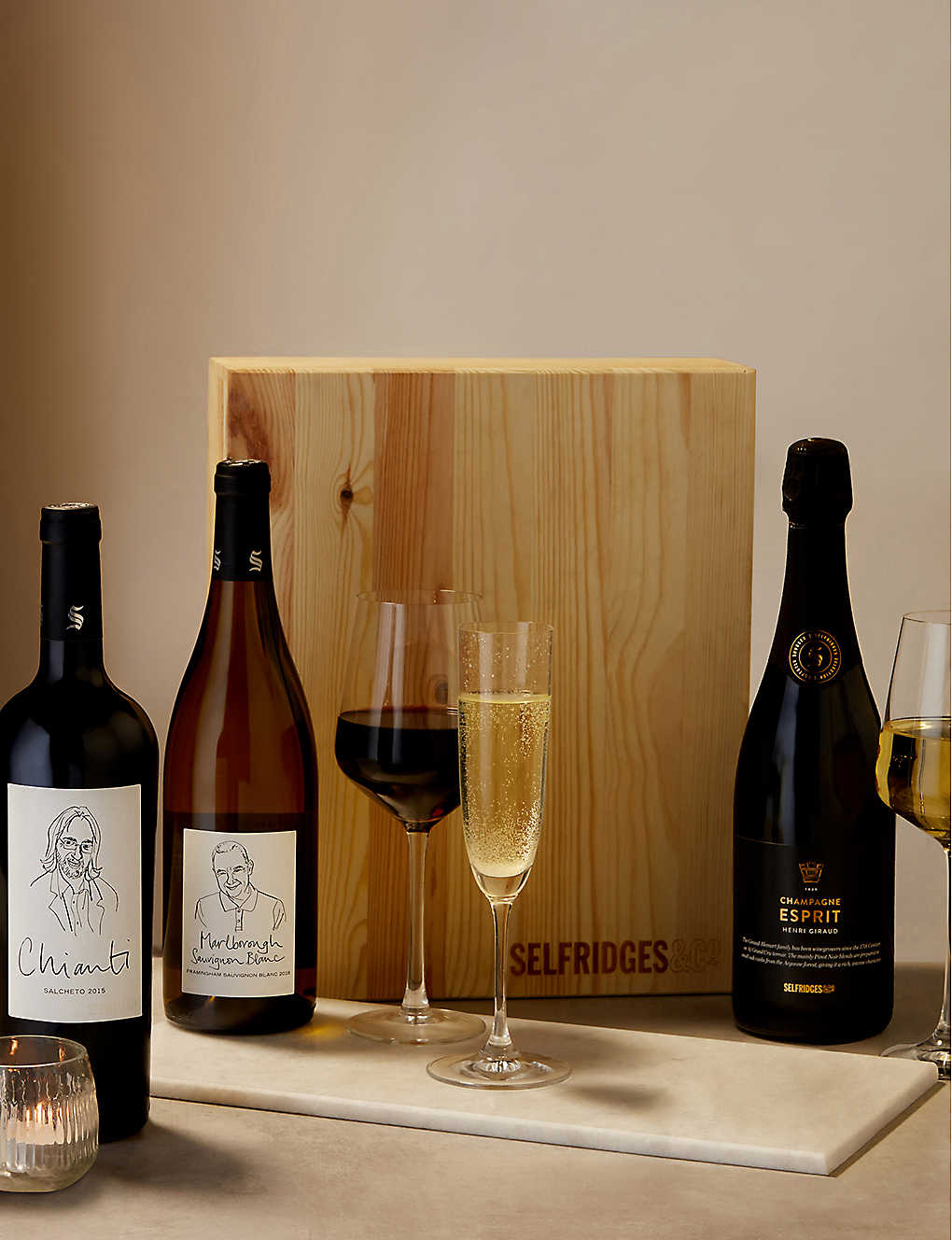 SELFRIDGES SELECTION: Wine and champagne trio
