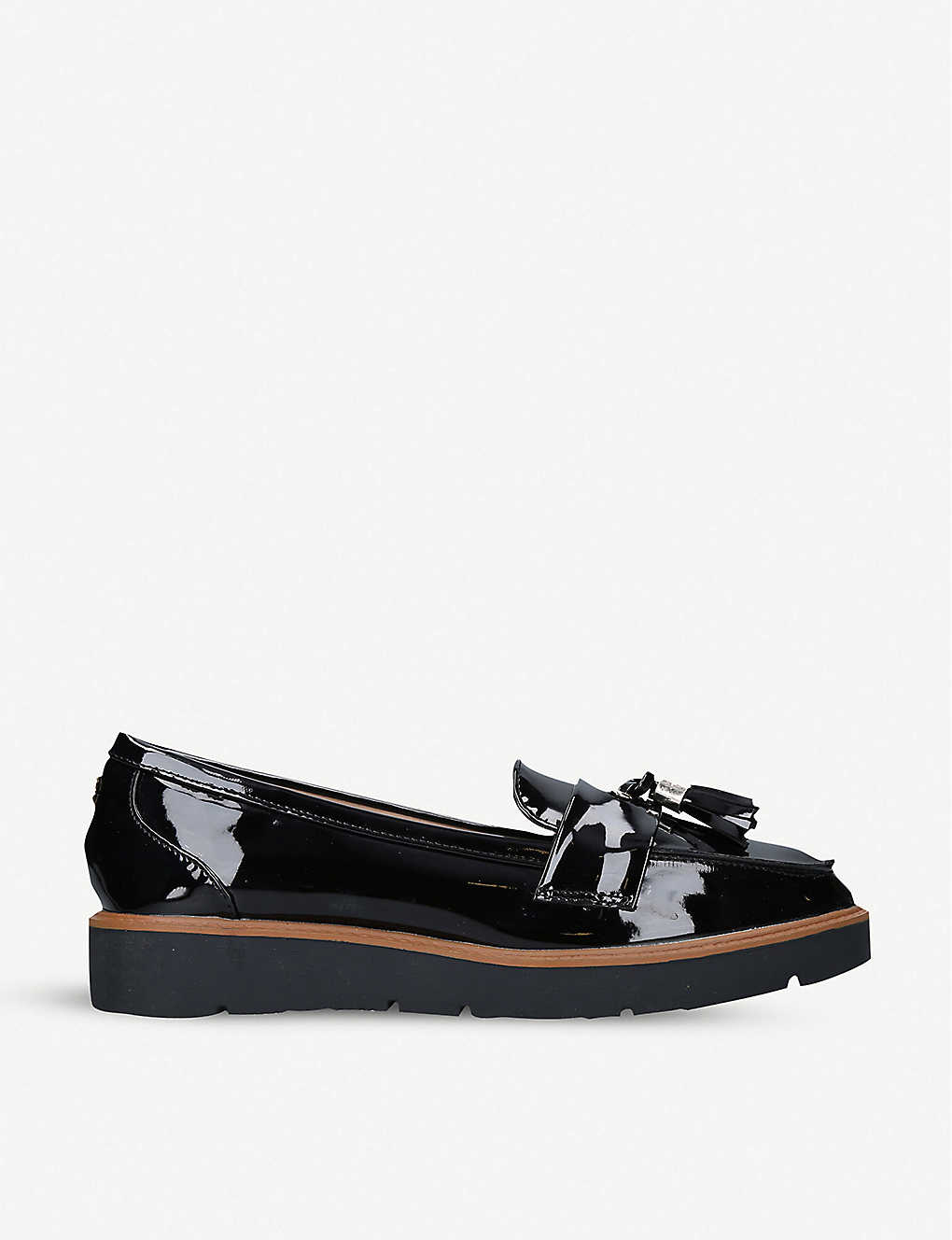 KG KURT GEIGER: Morly patent-leather loafers