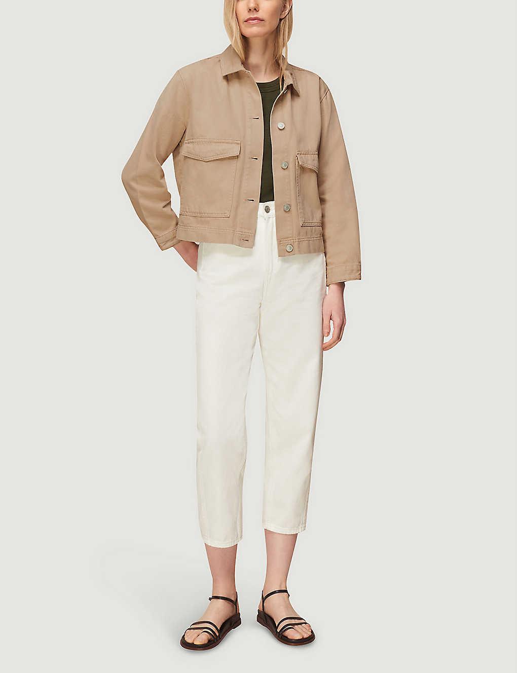 Boxy Tan Denim Jacket