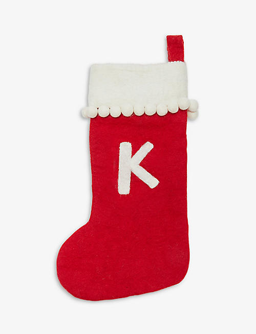 CHRISTMAS: Initial K Christmas stocking